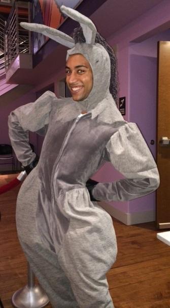 """Michael Roman as """"Donkey"""""""